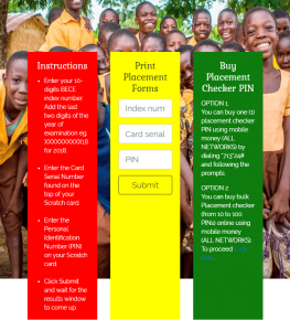 Check 2019 BECE Placement Online